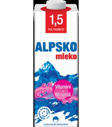 Алпско млеко со витамини и минерали 1,5% мм 1 л