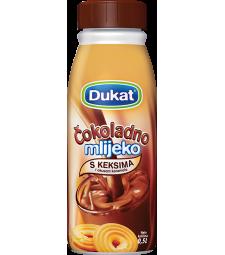 Дукат чоколадно млеко со вкус на бисквит 0,5 л