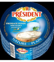 Президент топено сирење Натур (фамилијарно пакување) 400 г